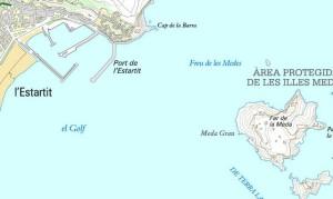 Carte des îles MEDES à l'Estartit