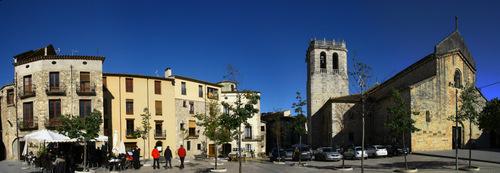 visiter Besalu - Place Prat de Sant Pere