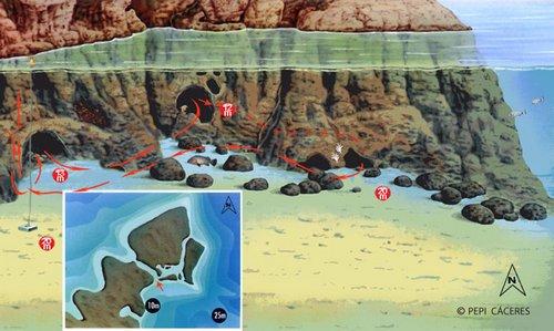 sites de plongée iles MEDES : Dofi sud