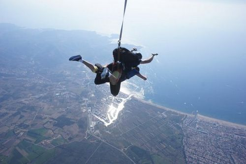 parachute à Rosas Empuriabrava costa brava