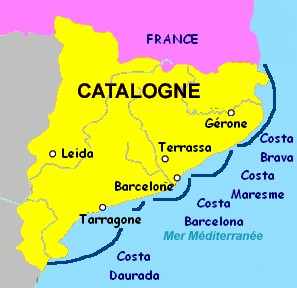carte catalogne
