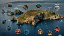 carte des sites de plongées aux iles medes