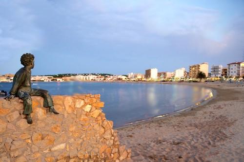 L' Escala en Espagne sur la Costa Brava - Plage de Riells