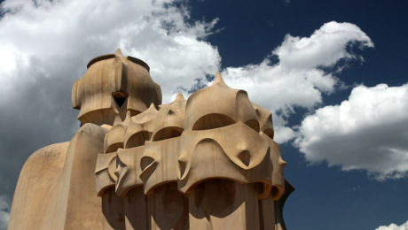 Casa Mila Gaudi Barcelone fet