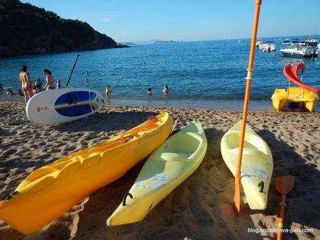 Activités Sport Costa Brava kayak, activités nautiques