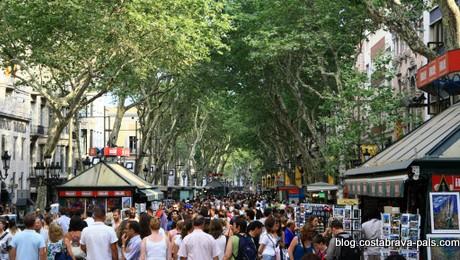 La rambla - tourisme à Barcelone