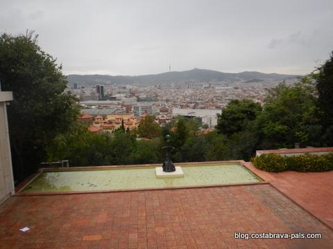 panorama barcelone montjuic