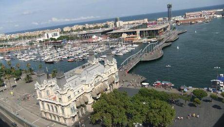panoramas de Barcelone colomb - port de barcelone croisière