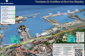 cliquer pour agrandir la vue du port de Barcelone croisière