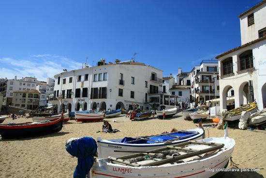 couleurs de calella de palafrugell - villages cotiers de la costa brava