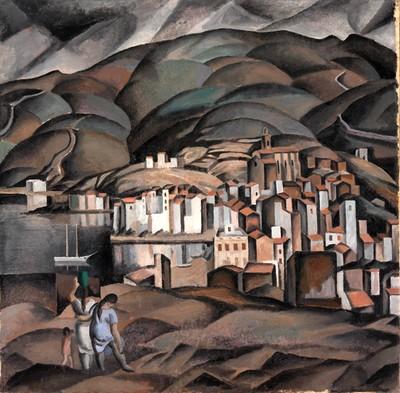 Cadaqués vu depuis la Tour de les Creus 125, vers 1923 Huile sur toile, 98 x 100 cm Fundació Gala-Salvador Dalí, Figueres