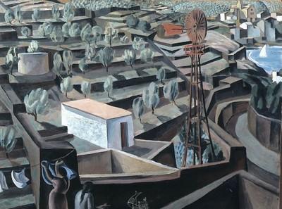 El molí. Paisatge de Cadaqués c. 1923 Tremp i oli / cartró 75 x 97 cm Collection privée
