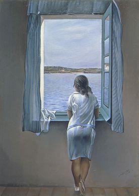 Jeune fille à la fenêtre 1925 Dali