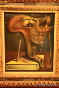 Musée dali de Figueres Autoportrait mou avec du lard grillé