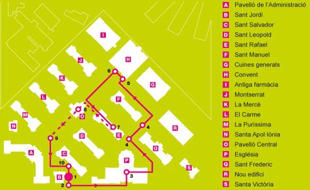 Plan Visite l'hôpital de Sant Pau à Barcelone