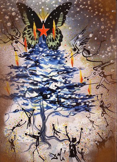 carte de noel de Dali 1964