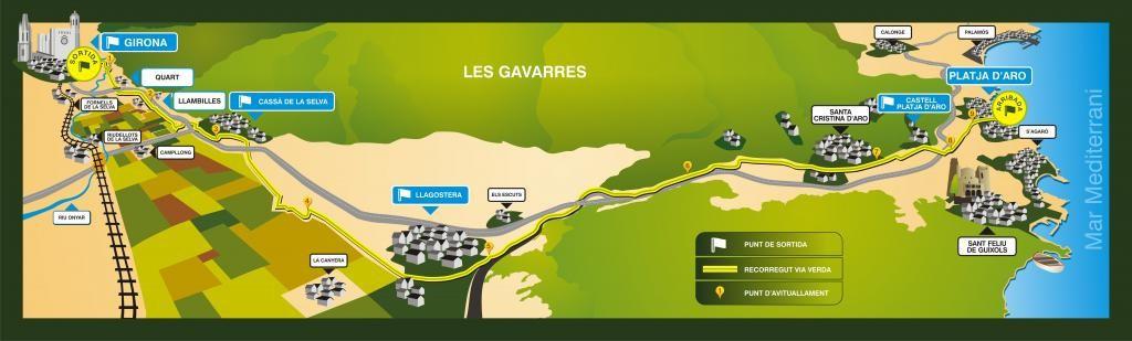 Carte Marathon Vías Verdes del Carrilet de Gérone