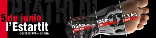 Triathlon trail Les Medes - Montgri 2016