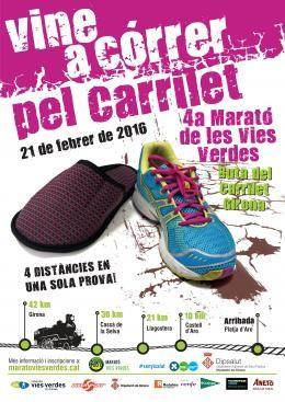 affiche Marathon Vías Verdes del Carrilet de Gérone 2016