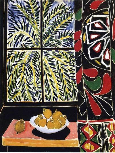 Exposition Barcelone 2016  Collection Phillips au CaixaForum Henri Matisse Intérieur avec rideau égyptien