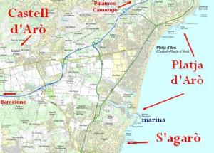 Carte de platja d'aro - plan playa de aro pour l'agrandir