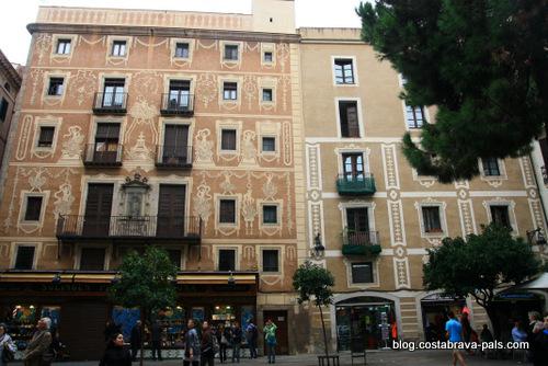 quartier gothique de Barcelone - place del pi