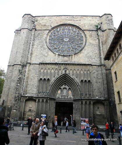 quartier gothique de Barcelone - santa maria del pi
