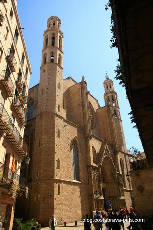El Born à Barcelone - santa maria del mar