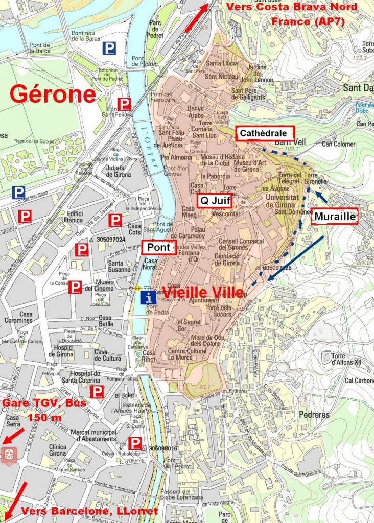 cliquez pour agrandir le plan de Gérone