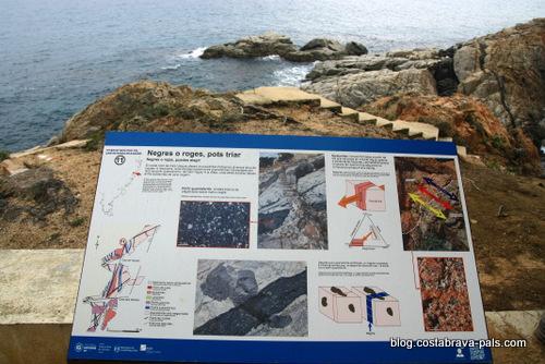Chemin de ronde à S'Agaro panneau géologique