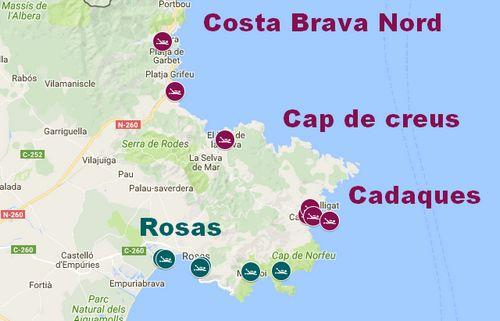 trouver un centre de plongée sur la Costa Brava nord, cadaques, rosas