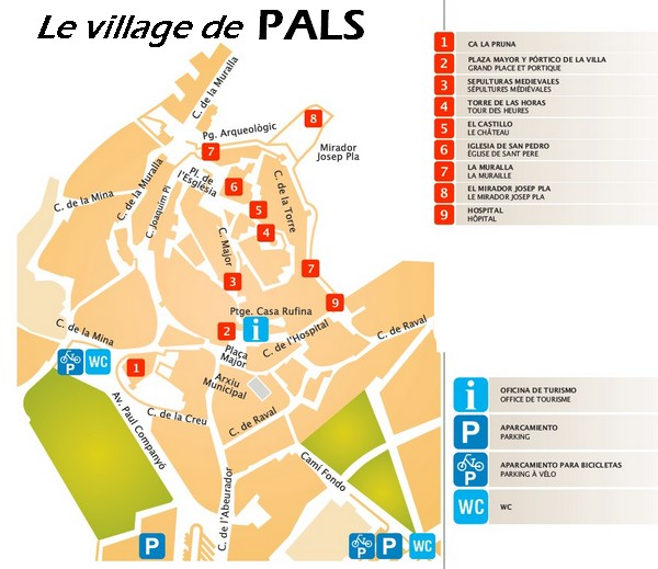 plan du village de Pals