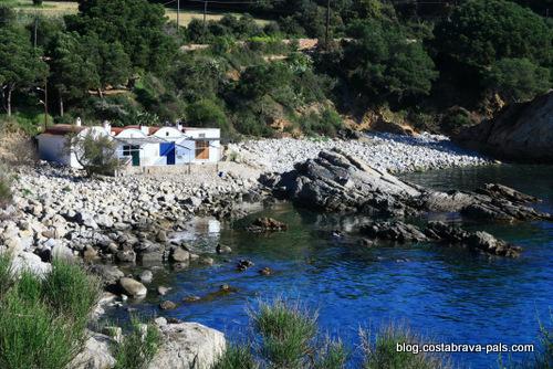 cabanes de pêcheurs sur la Costa Brava - palamos