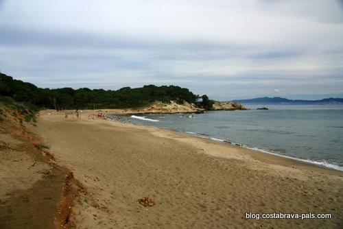 plage à L'Escala - rec de moli