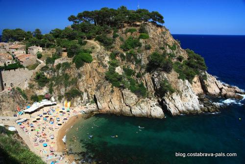 plage à Tossa de Mar