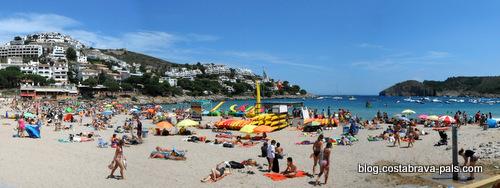 plage à L'Escala - Cala MOntgo