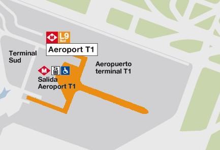 Plan Aeroport de Barcelone Terminal T1