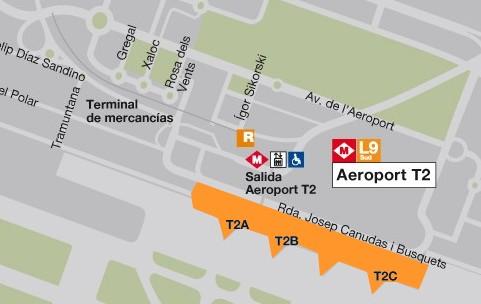 Arrivee Barcelone Aeroport Centre Ville