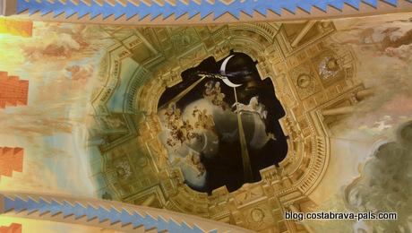 Chateau de Pubol - détail du plafond