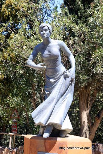 statue de Santa Cristina à Lloret de Mar