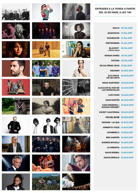 Festival Cap Roig 2017 - festivals Costa brava 2017