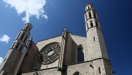 e quartier du Born à Barcelone - Santa maria del mar