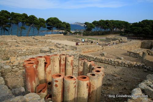 Ruines d'Empuries l'escala - filtres à eau