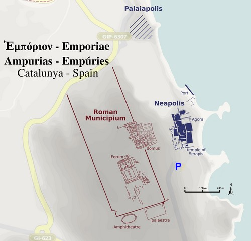 Carte d'Empuries