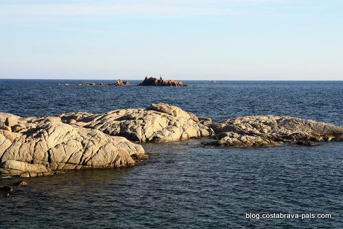 les iles Formigues vues de Cala estreta