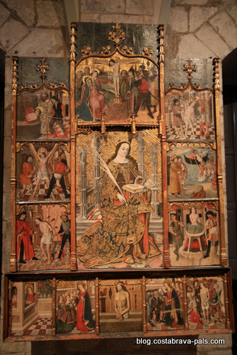 retable de Sant Pere de Púbol par Bernat Martorell - musée d'art de Gérone