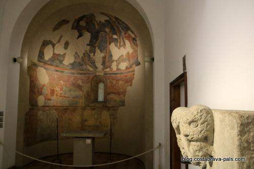 fresques de l'abside de Sant Esteve de Pedrinya - musée d'art de Gérone