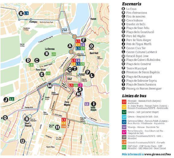 plan des Foires de Sant Narcis à Gérone 2017