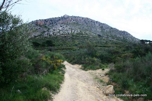 randonnée autour du Castell de Montgri - le départ