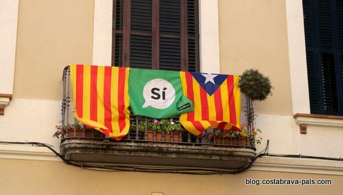 crise de l'indépendance en Catalogne - appel au vote indépendantiste à lloret